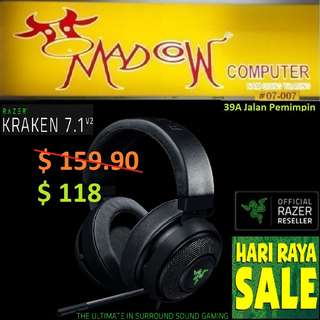 "Razer Kraken 7.1 V2 - Digital Gaming Headset - Oval Ear Cushions - FRML Packaging."" Offer Sales..,Hurry Grab it by Tonite....while Stock Last..""."