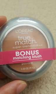 Loreal powder and blush (neutral)