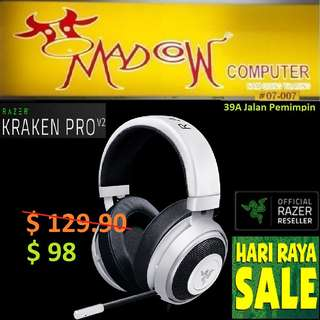 "Razer Kraken Pro V2–Analog Gaming Headset – White – Oval Ear Cushions – FRML Packaging..."" Offer Sales..,Hurry Grab it by Tonite....while Stock Last..""."