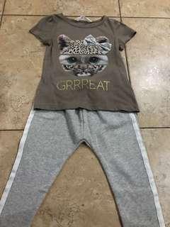 Zara Tweed Jogger Pants and H&M Shirt