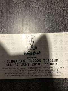 Twice concert tickets