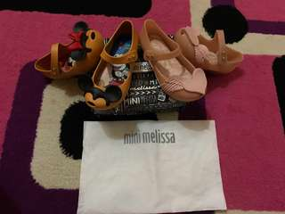 take it all mini melissa original size 9(NO NEGO)harga satuan beli 849rb