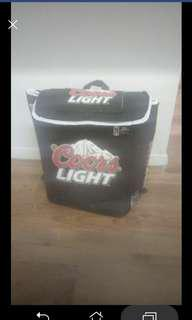 Coors light insulated back pack
