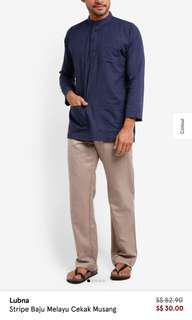 BN Lubna Stripe Baju Melayu Cekak Musang from Zalora