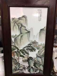 瓷版 Painting on porcelain tiles 42 by 23.5