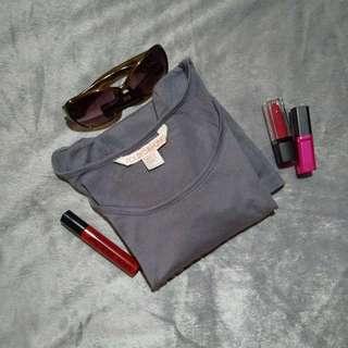 Gray studded 3/4 sleeve Blouse