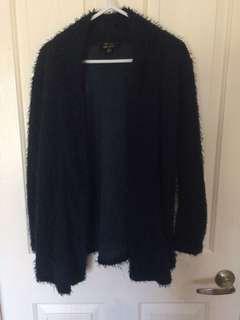 Xs navy Faux fur jacket