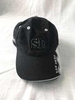 San Diego Black Baby Cap (0-9 mos)