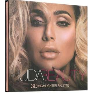 PINK SANDS- HUDA BEAUTY- 3D HIGHLIGHTER PALETTE (Authentic)