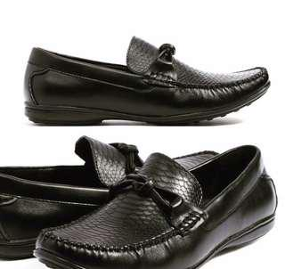 Men driving moccasin loafer in genuine leather size 40-45