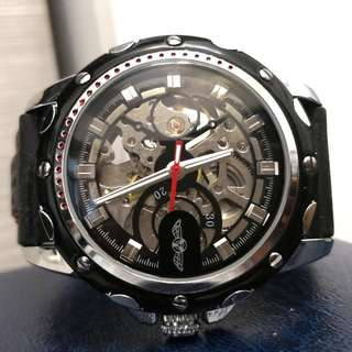 全自動機械黑鋼陀飛輪手錶 Original Brand New Automatic Mechanical Black Stainless Steel Tourbillon Watch 父親節禮物 Father's Day Gift