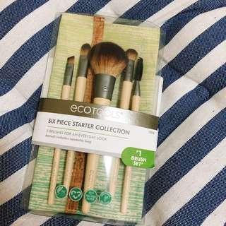 🚚 Ecotools 眼唇刷具組 旅行組 附袋 五件組