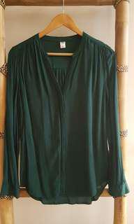3/4 Sleeve Cotton Blouse