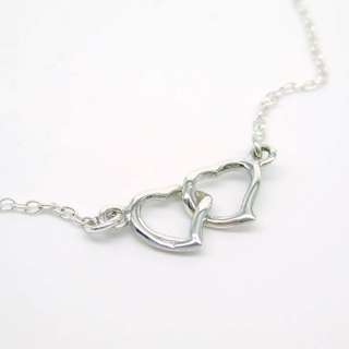 925 silver heart to heart necklace / 925純銀心心頸鏈
