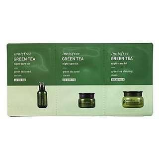 INNISFREE GREEN TEA 3 PCS NIGHT KIT