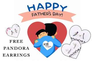 Father's day PROMO Free Pandora earrings