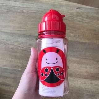 Skip Hop Red Zoo Straw Bottle