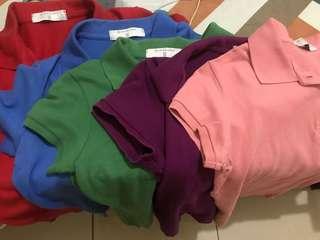 Preloved Giordano Polo shirt(5pcs)
