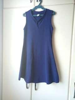 Blue Rib Dress