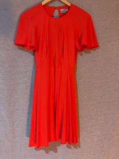 Asos red orange dress