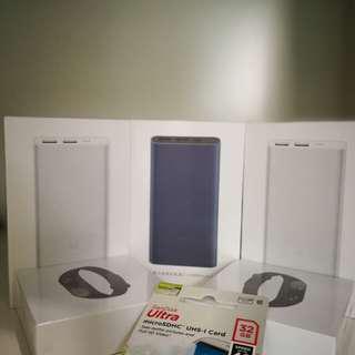Miband2/Mi 10000mah power bank/MicroSD card