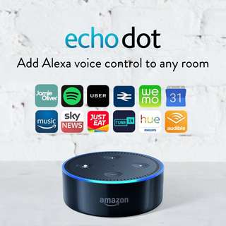🚚 [Brand New & Authentic] Echo Dot (2nd Generation) - Smart speaker with Alexa - Black comes with ONE-Year Warranty and SAME Day Delivery at S$58!
