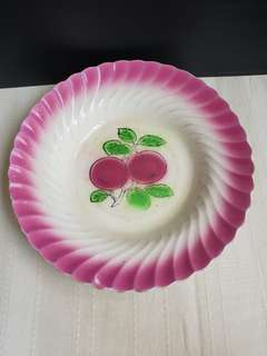 Vintage Pink and white plate england