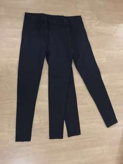 Topshop Black High-waisted Pants
