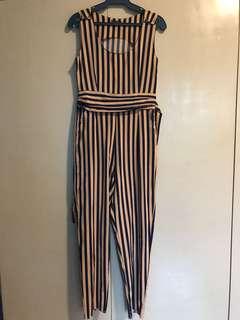 Navy Stripes Jumpsuit