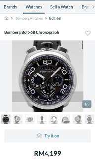 Bomberg Watch quartz.. Seldom used Chorno 1968 model