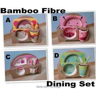 Kids Bamboo Fibre Dining Set