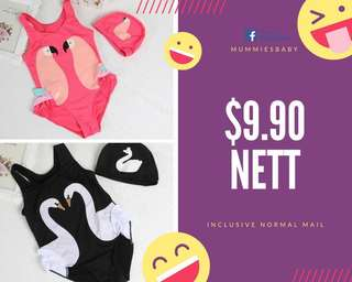 Flamingo swim suit for 1 to 4 years old