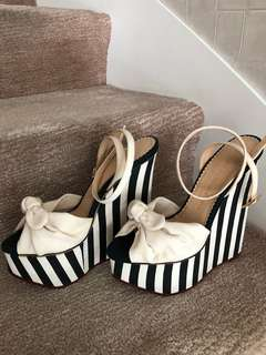 Charlotte Olympia Stripe Wedges