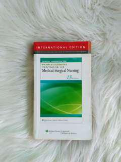 Free Shipping!❤ Clinical Handbook for Brunner & Suddarth's Textbook of Medical-Surgical Nursing 13th Ed.