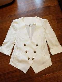 🚚 純白七分袖小外套#畢業兩百元出清