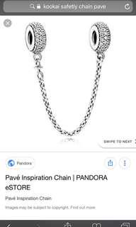 Pandora pave safety chain