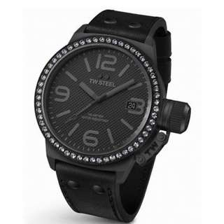 Authentic TW Steel TW912 Canteen 45mm Black Dial Unisex Watch