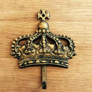 👑Antique Crown Metal Hooks from Europe