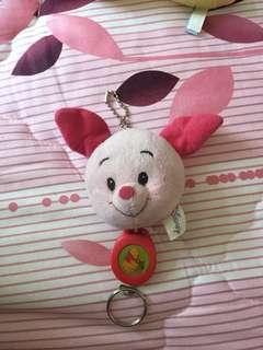 🚚 小豬伸縮鑰匙扣(未使用過)