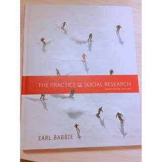 🚚 The practice of social research (pearson) 社會研究方法用書