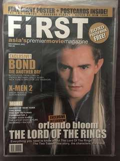 FIRST movie magazine - Orlando Bloom The Lord of the Rings cover