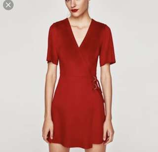 Zara Faux Suede Dress