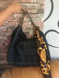 Chanel Coco Cabas Denim Bag(Authentic)