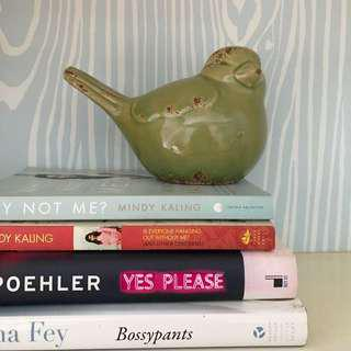 FLASH SALE! Green bird figurine