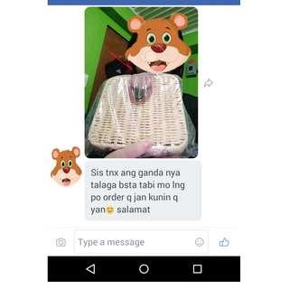 Square Rattan Bag (Happy Lang)