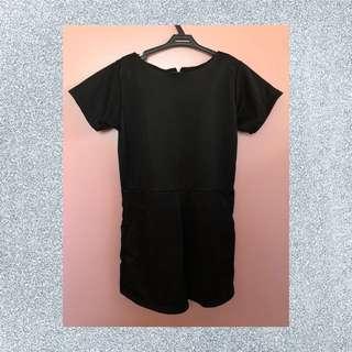 Plain Black Romper