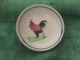 Vintage soy sauce dish.