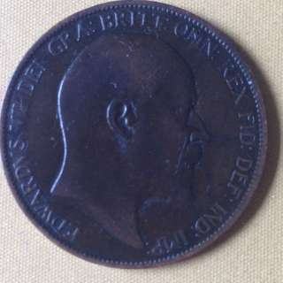 1902 GB One Penny coin.