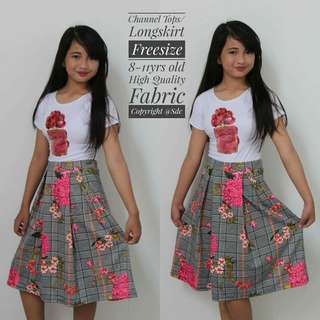 👗chanel top with long skirt terno