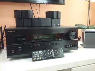 Onkyo 7.2 AV Receiver TX-SR608 with Bose 5 Jewel speakers system